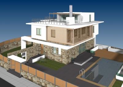 Προταση εξωτερικής ανακαίνισης μονοκατοικίας στη Φιλοθέη – 2012