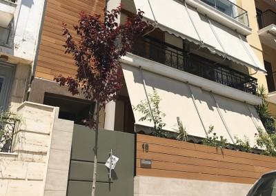 Αναμόρφωση όψεων και εισόδου πολυκατοικίας στο Κερατσίνι- 2016